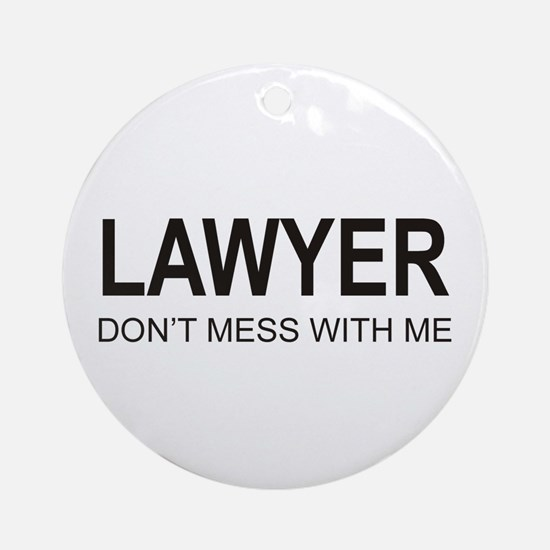 Lawyer Ornament (Round)