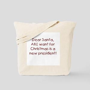 Anti-Bush Dear Santa Tote Bag