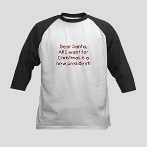Anti-Bush Dear Santa Kids Baseball Jersey