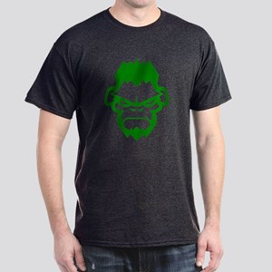 Gorilla Grappling Face Straight Dark T-Shirt