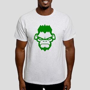 Gorilla Grappling Face Straight Light T-Shirt