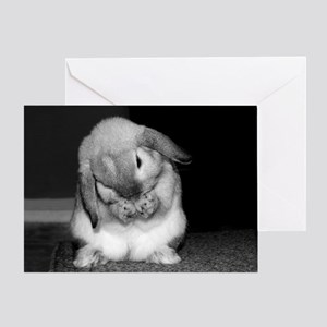 Bunny Praying Sympathy Greeting Card