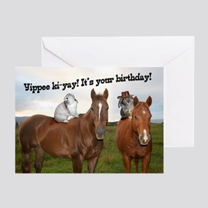 Horseback Bunnies Greeting Cards (Pk of 10)