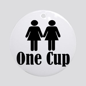 2 girls 1 cup Ornament (Round)