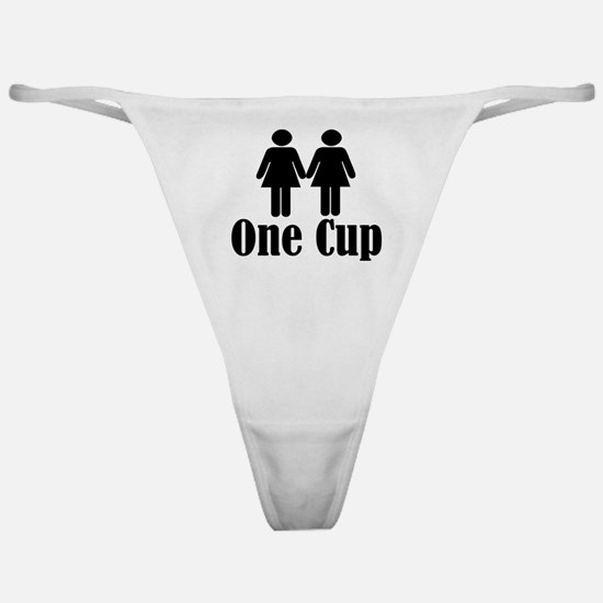 2 girls 1 cup Classic Thong