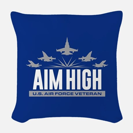 U.S. Air Force Aim High Throw Pillow  Throw Pillow