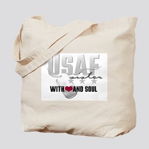 USAF Sister - With Heart and Tote Bag
