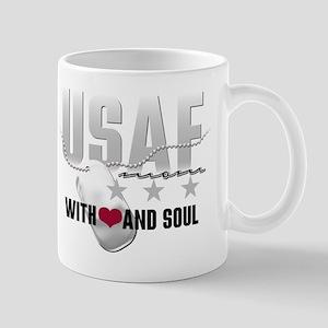 USAF Mom - With Heart and So Mug