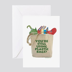 Canvas grocery greeting cards cafepress still using plastic bags greeting card m4hsunfo