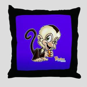 Baby Capuchin Monkey Throw Pillow