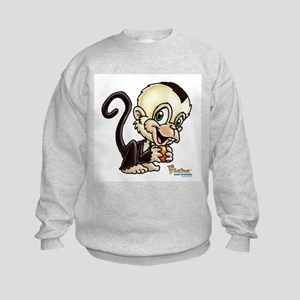 Baby Capuchin Monkey Kids Sweatshirt