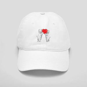 Westies with Heart Cap