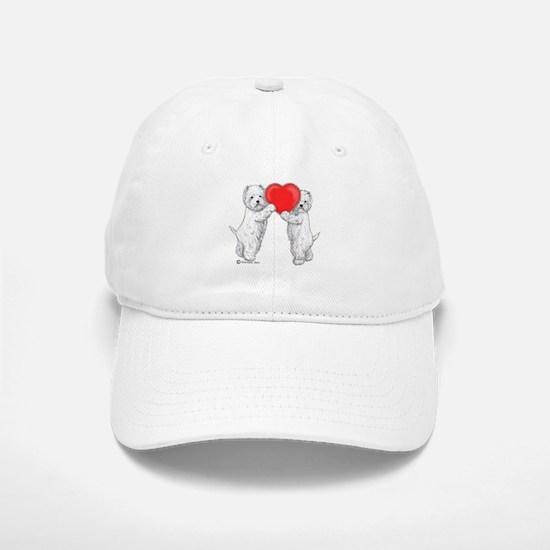 Westies with Heart Baseball Baseball Cap