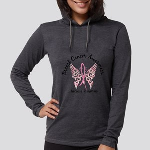 Breast Cancer Butterfly 6.1 Long Sleeve T-Shirt