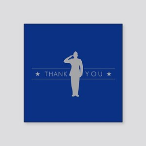 "U.S. Air Force Thank You Square Sticker 3"" x 3"""