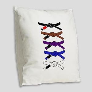 brazilian jiu jitsu T Shirt Burlap Throw Pillow