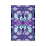 'Virtual Violets' Rectangle Magnet (100 pack)