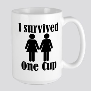 2 girls 1 cup Large Mug