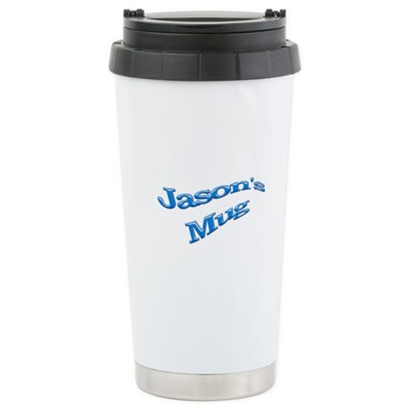 Jason's Blue Stainless Steel Travel Mug