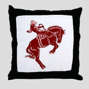 """Bronco"" Throw Pillow"