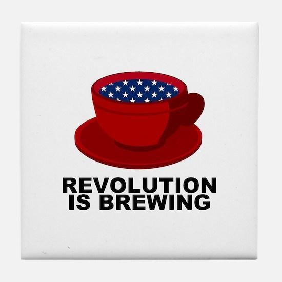 Tea Party Revolution Tile Coaster