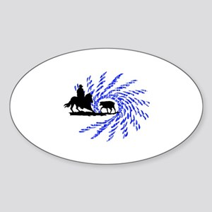 Cowhorses rule! Oval Sticker
