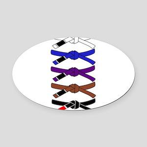 brazilian jiu jitsu T Shirt Oval Car Magnet