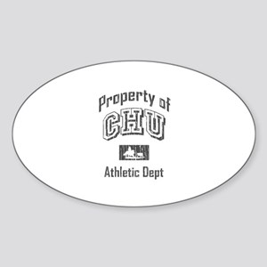 CHU Athletic Department Oval Sticker