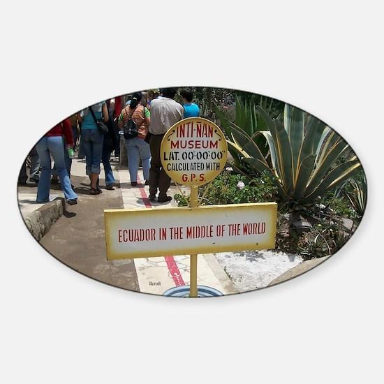 Equator Oval Decal