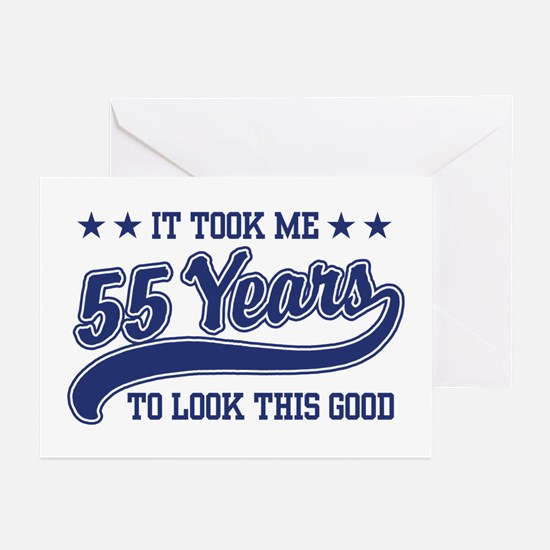 55th Birthday Greeting Cards (Pk of 10)