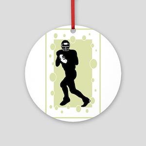 Quarterback Ornament (Round)