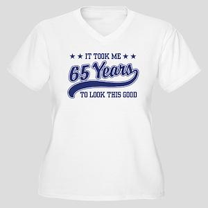 65th Birthday Women's Plus Size V-Neck T-Shirt