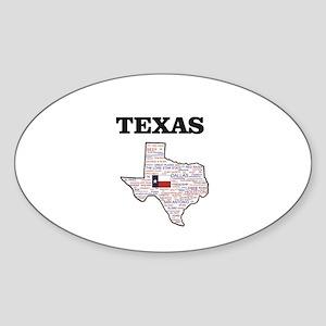 TX WORD STATE Sticker