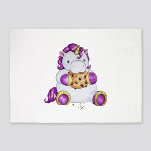 Cookie Unicorn 5'x7'Area Rug