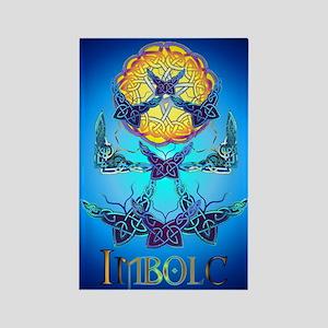 Imbolc Butterflies Rectangle Magnet