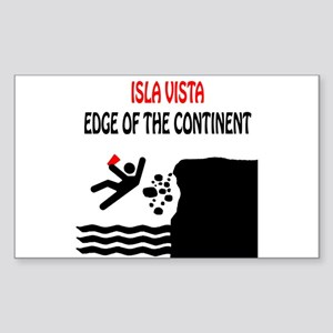 Isla Vista Edge Rectangle Sticker