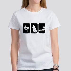 Active Sheltie White T-Shirt