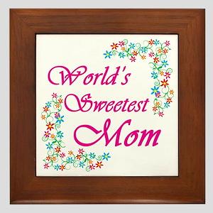 World's Sweetest Mom Framed Tile