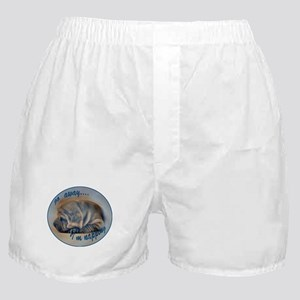 sleeping shar pei Boxer Shorts