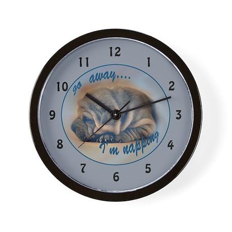 sleeping shar pei Wall Clock