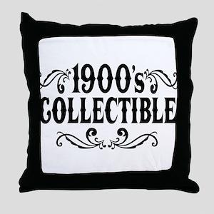 1900's Collectible Birthday Throw Pillow