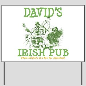 David's Vintage Irish Pub Yard Sign
