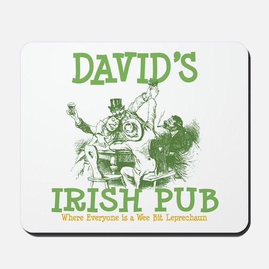 David's Vintage Irish Pub Mousepad