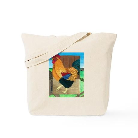 Rooster On Patrol Tote Bag