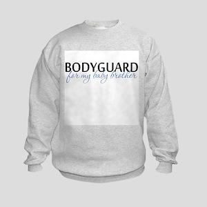 Bodyguard for my baby brother Kids Sweatshirt
