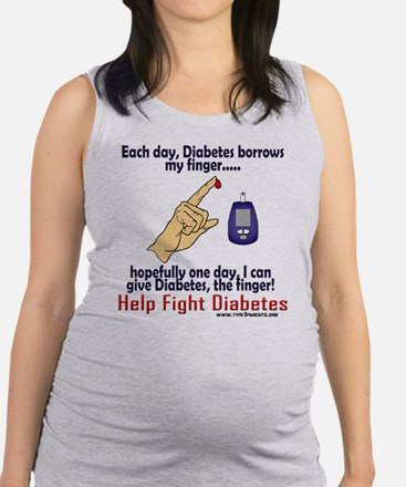 Give Diabetes the finger (self) Tank Top