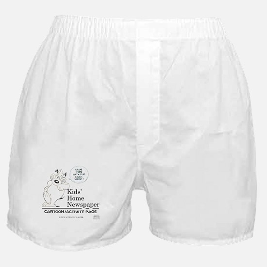 Kids' Home Newspaper Boxer Shorts