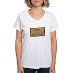 gone muff divin Women's V-Neck T-Shirt