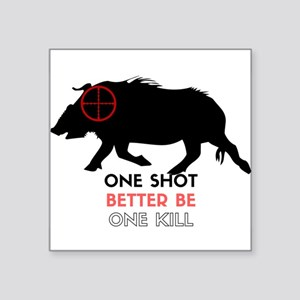 One Shot One Kill Wild Boar Hog Sticker