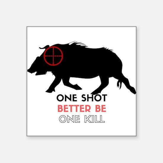One Shot One Kill Wild Boar Hog Sticker